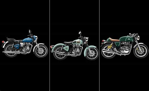 royal color scheme royal enfield motorcycles to get nine new colour schemes