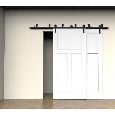 bypass closet door track bypass sliding barn door hardware track kit steel closet