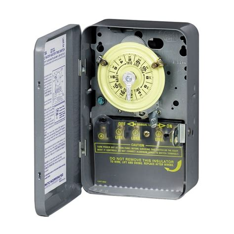 intermatic timer intermatic mechanical residential hardwired timer lowe s