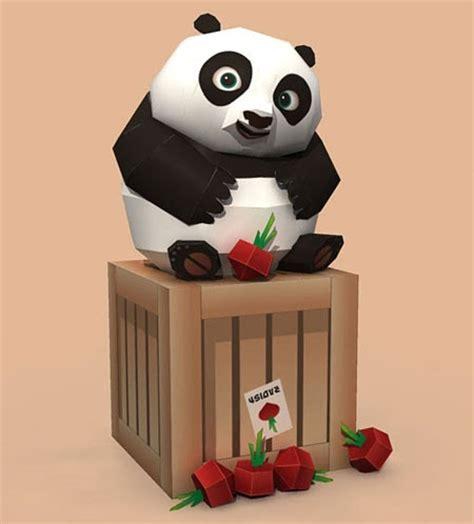 paper craft panda kung fu panda 2 baby po papercraft paperkraft net