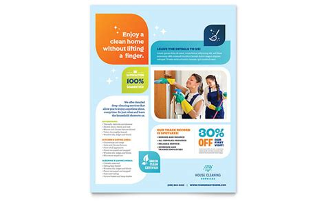 flyer template cleaning services flyer template design