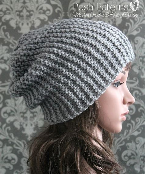 hat knitting patterns easy easy slouchy hat knitting pattern