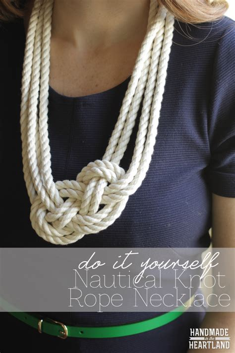 how to make rope jewelry diy nautical knot rope necklace handmade in the heartland