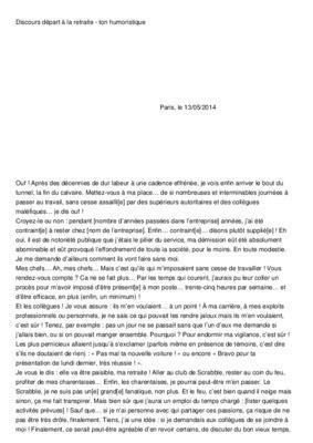 discours humoristique de depart a la retraite pdf notice manuel d utilisation