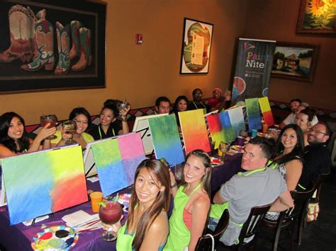 paint nite ques bar paint drink and be merry