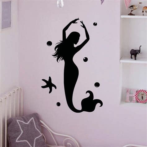 mermaid wall sticker wall decal mermaid stickers the from fabwalldecals