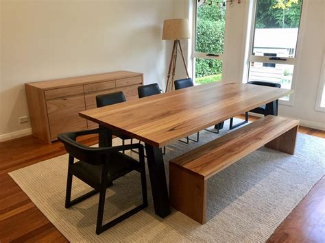 Space For Kitchen Island recycled timber dining tables australia lumber furniture