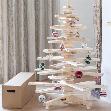 scandinavian wooden tree decoration uk tree alternatives