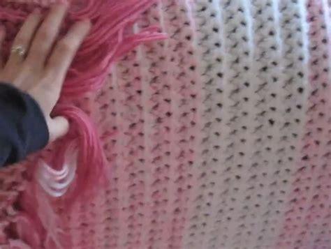 finger knitting blanket finger knitting and finger crochet