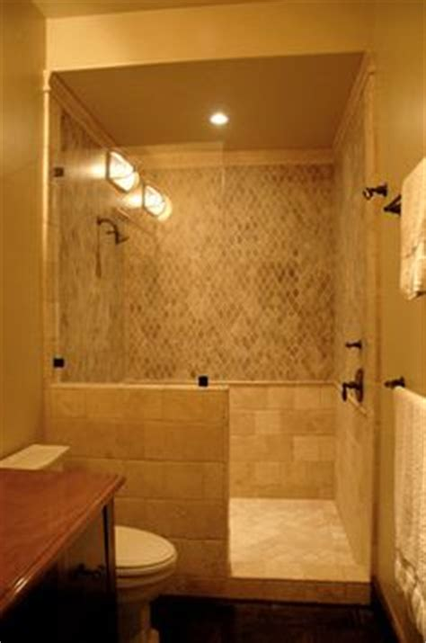 add shower to half bath 1000 ideas about half wall shower on half