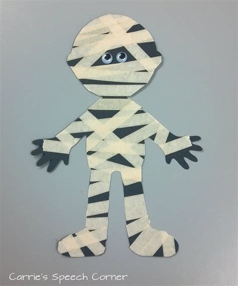 mummy craft for carrie s speech corner book of the week skeleton meets