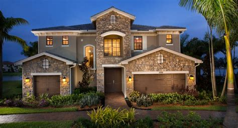 florida homes miralago at parkland estate collection new home community