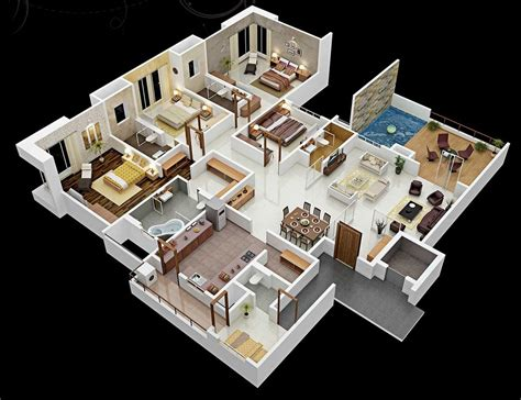 house plans with 4 bedrooms 50 four 4 bedroom apartment house plans architecture design