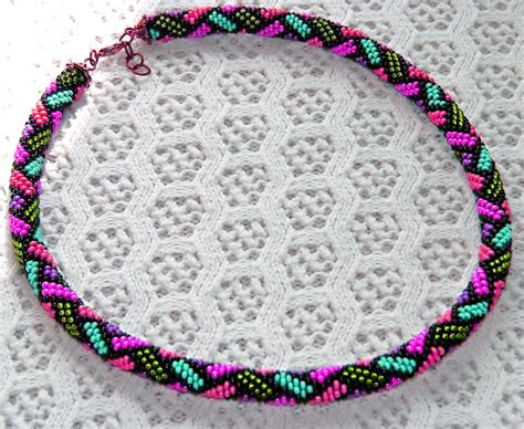 bead crochet rope patterns free pattern for beaded crochet rope mallow magic