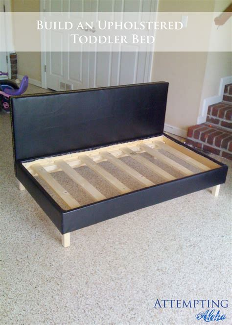 How To Make Sofa Bed Attempting Aloha Diy Upholstered Toddler Bed Plans