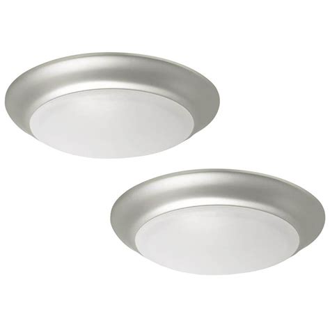 project lights shop project source 2 pack 7 4 in w brushed nickel led