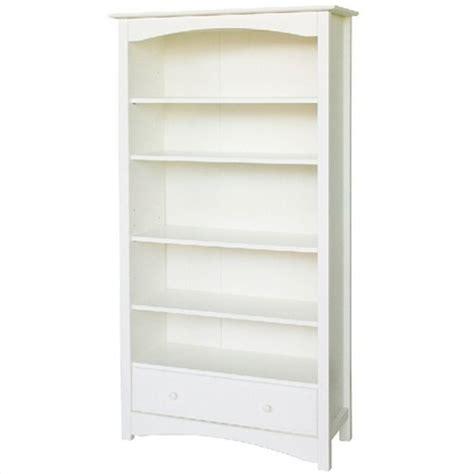 white bookshelves davinci roxanne 5 shelf wood bookcase in white m5926w