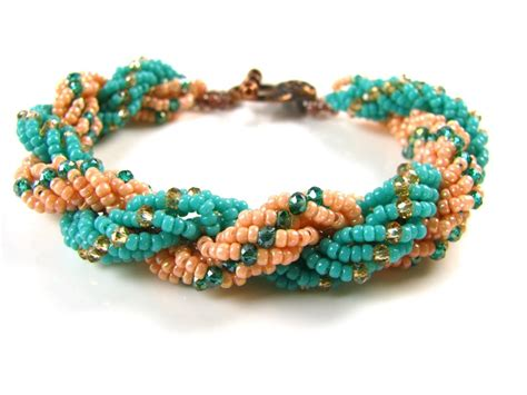 how to make a seed bead bracelet how to make a spiral rope bracelet seed bead
