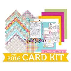 monthly card kits simon says st monthly kits on card kit