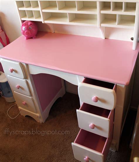 desk pink diy lil pink white desk re finished
