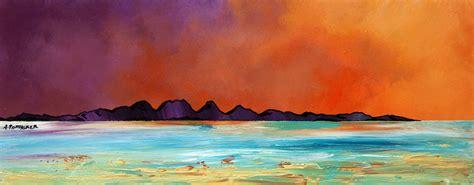 spray painting scotland paintings prints of the isles of barra jura ghigha