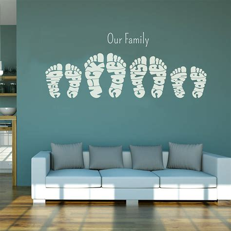 personalised wall stickers personalised footprint wall stickers by name