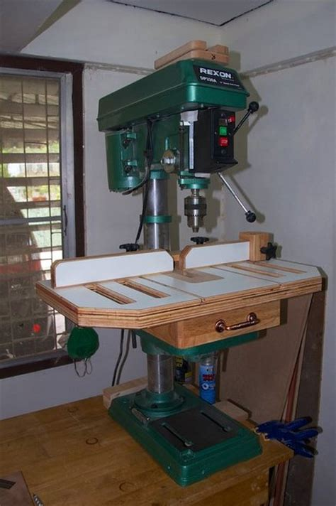 woodworking drill press table drill press table by gipson lumberjocks