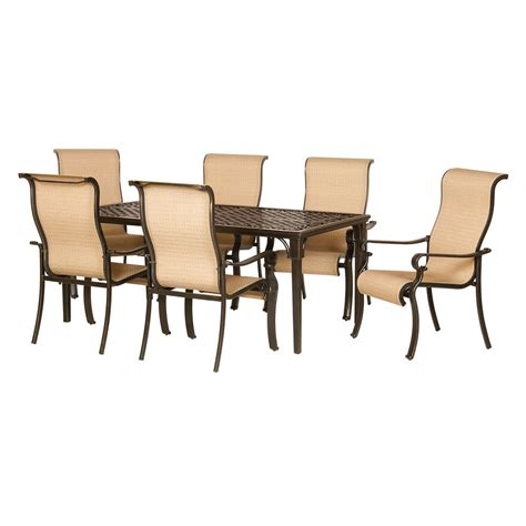 patio 7 dining set shop hanover outdoor furniture brigantine 7 espresso