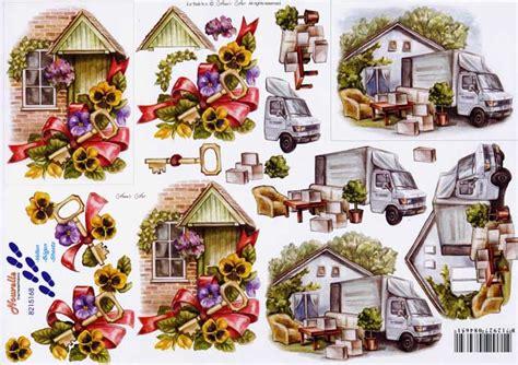 decoupage house new home 3d decoupage sheet
