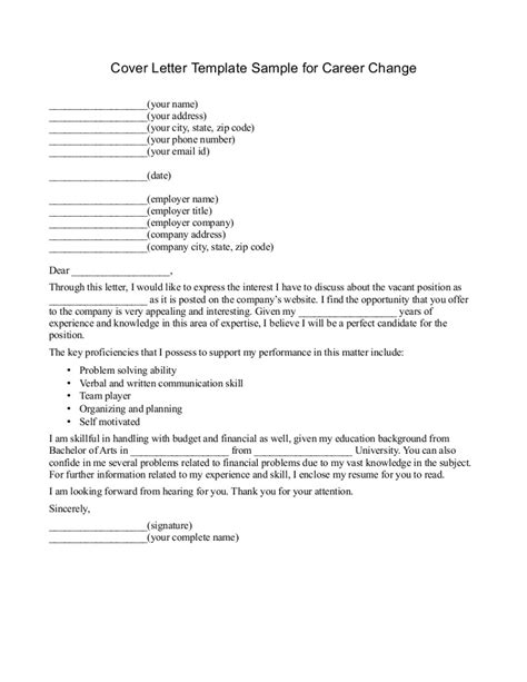 free career change cover letter recentresumes com