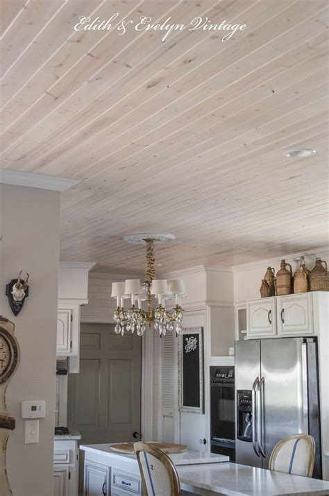 Ideas To Update Kitchen Cabinets how to plank a popcorn ceiling