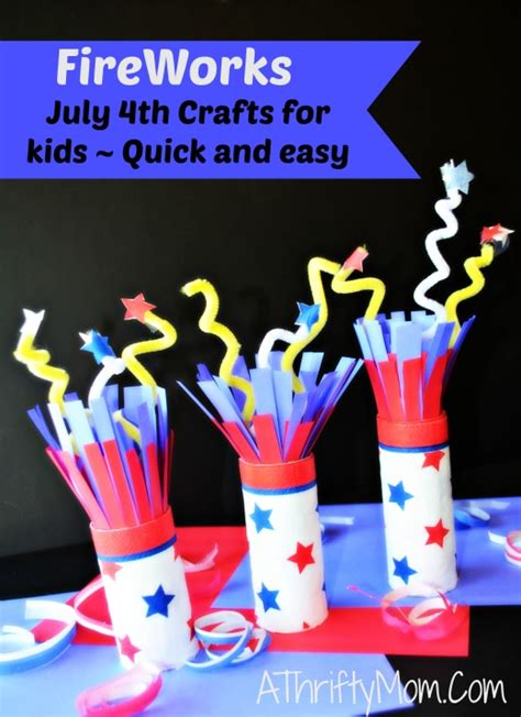 easy 4th of july crafts for fireworks july 4th crafts for and easy