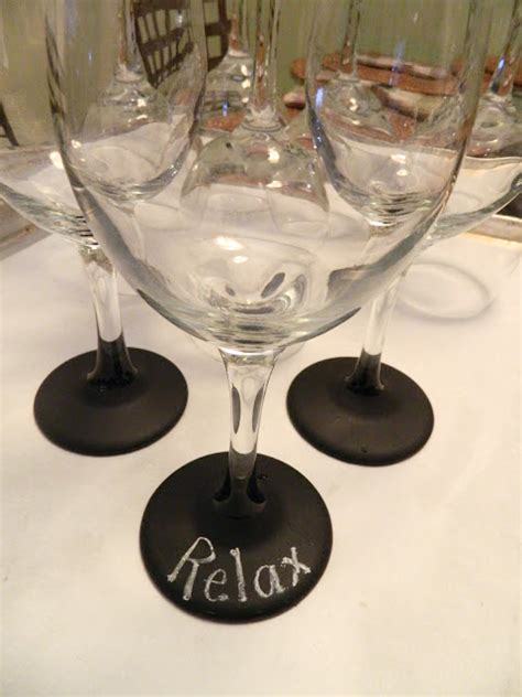 diy chalkboard label wine glasses custom wine glass labels to personalize your drinks
