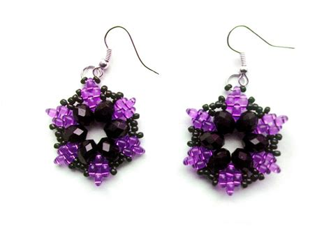beading earrings beadsmagic free pattern for beautiful beaded earrings