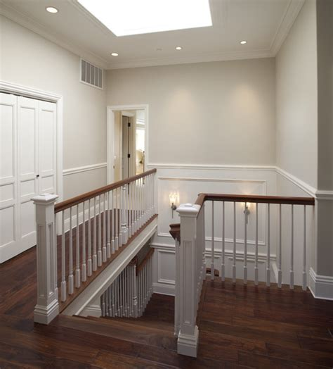 Living Rooms With Grey Sofas by Upstairs Hall Traditional Staircase San Francisco
