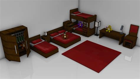 minecraft furniture bedroom minecraft bedroom pack rig cinema 4d