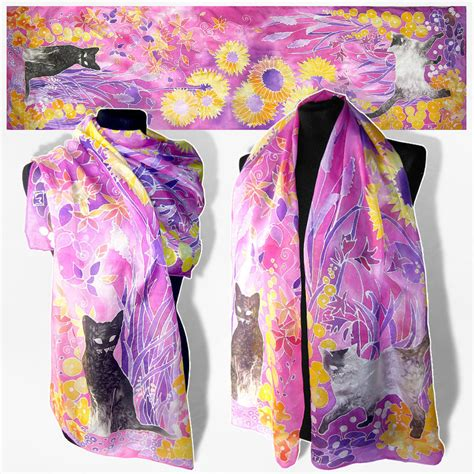 scarves for sale silk scarf cats for sale by minkulul on deviantart