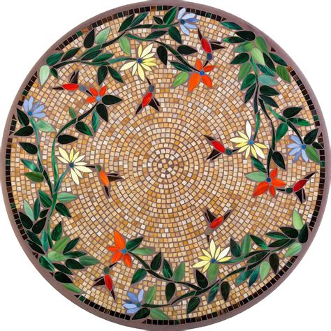mosaic patio tables table tops mosaico vitral knf jardines muebles