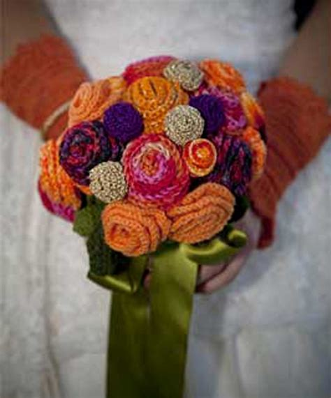 knitted bouquet pattern wedding decor archives stitching and knitting accessories