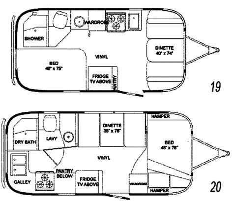 30 ft travel trailer floor plans the vintage airstream flying cloud 19 20 foot travel