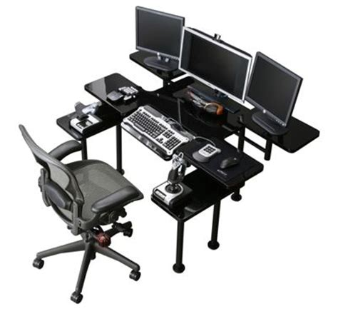 roccaforte ultimate gaming desk roccaforte ultimate desk gamer s only