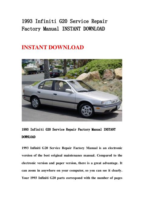 service manual 1993 infiniti g repair manual free download service manual 2004 infiniti g