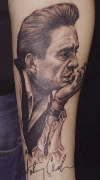 johnny cash tattoo picture