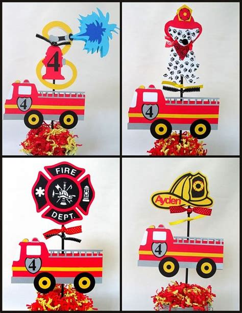 truck centerpieces engine truck birthday theme centerpieces choose from