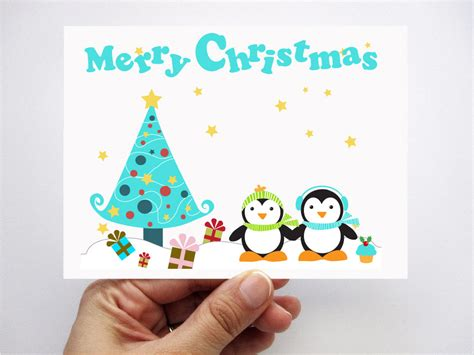 cards with toddlers penguin cards printed cards cards merry