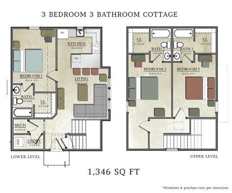 3 bedroom home floor plans 3 bedroom cottage house plans homes floor plans