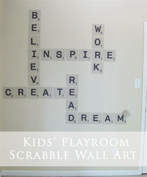create a scrabble word tuesday transformation scrabble wall