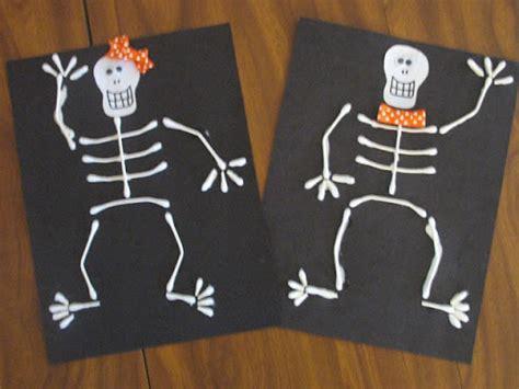 skeleton crafts for preschool crafts for q tip skeleton craft