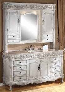 bathroom vanity hutch 64inch darwin vanity single sink vanity antique ivory