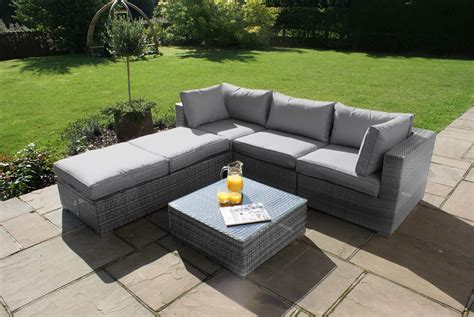 gray patio furniture sets maze rattan corner garden furniture set grey discount rattan furniture